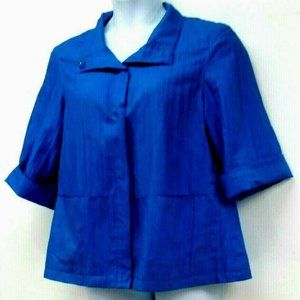 Coldwater Creek Blue Jacket Cuff Sleeves